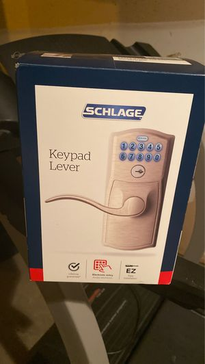 SCHLAGE keypad lever door knob for Sale in Grove City, OH