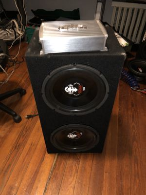 12 inches boss 2000 watts and boss monoblok 1500.1 for Sale in Boston, MA