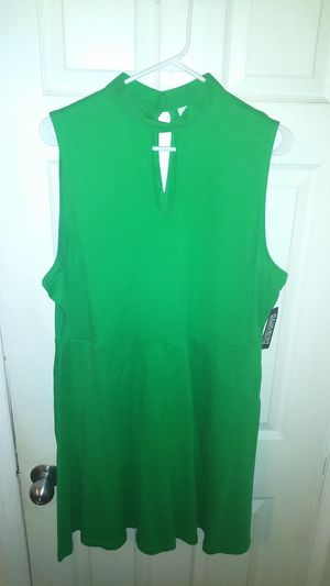Brand New Grass Green NyCo Summer Flare Dress XXL 18 20 for Sale in Philadelphia, PA