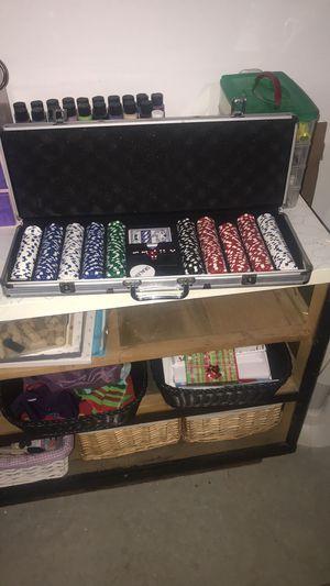 Poker set in silver case for Sale in Manassas, VA