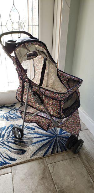 All Terrain Extra Wide Leopard Skin 3 Wheels Pet Dog Cat Stroller for Sale in Spring Hill, FL