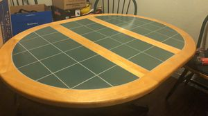 Kitchen Table and 4 matching chairs with cushions for Sale in Dallas, TX
