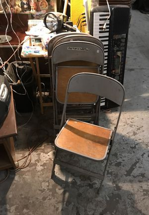Clarin 4 set 1940s vintage folding chair child's set for Sale in St. Louis, MO