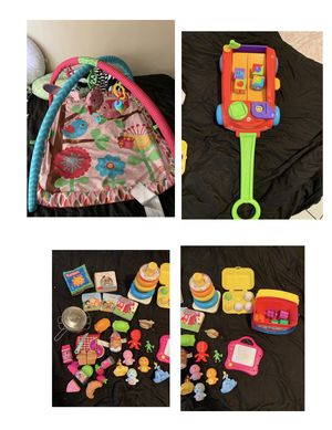 Baby play mat and toys make offers not free for Sale in Lynwood, CA