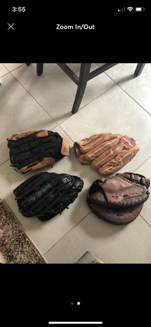 Softball and Baseball gloves for Sale in Sarasota, FL
