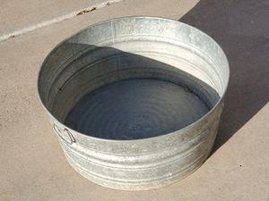 "Galvanized round stock tank 22"" x 11"" for Sale in Glendale, AZ"
