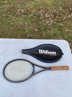 Wilson Black Graphite Force Midsize Tennis Racket With Cover 4 1/4 String 65-70 for Sale in Fairfax,  VA