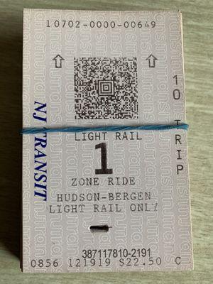 NJ Jersey Light Rail tickets for Sale in Piscataway, NJ