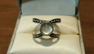 Vintage SS Moonstone Opal Beaded Wrap Ring. for Sale in Pawtucket, RI