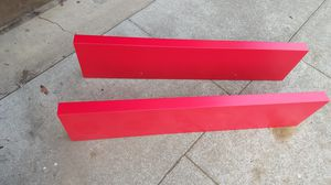 Bright red lack floating shelves $20 each for Sale in San Francisco, CA