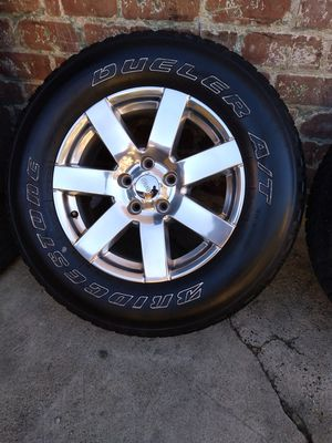 LIKE NEW WHEELS AND TIRES FOR JEEP WRANGLER RUBICON, SAHARA, GRAN CHEROKEE, DODGE DURANGO, for Sale in Los Angeles, CA