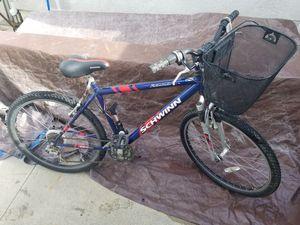 Schwinn mountain bike w/ basket & tirepump for Sale in Los Angeles, CA