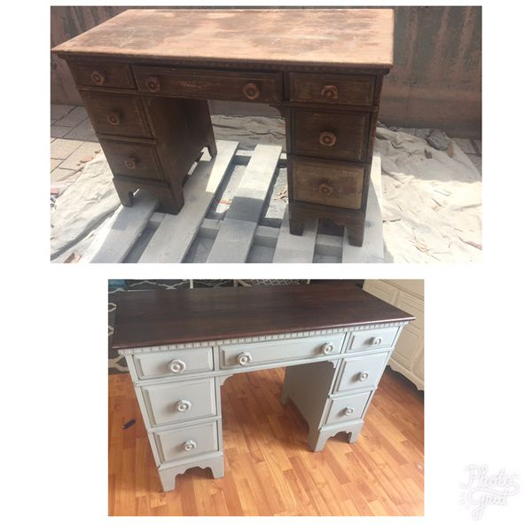 Antique Desk Redone For Sale In Colorado Springs Co Offerup