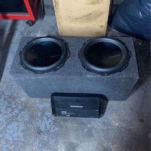 Rockford T'1 Subwoofers And Rockford Punch Amp. for Sale in Brooklyn, NY