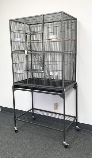 """(New in box) $90 Large Bird Cage Parrot Ferret Cockatiel House Gym Perch Stand w/ Wheels 32""""x18""""x63"""" for Sale in Whittier, CA"""
