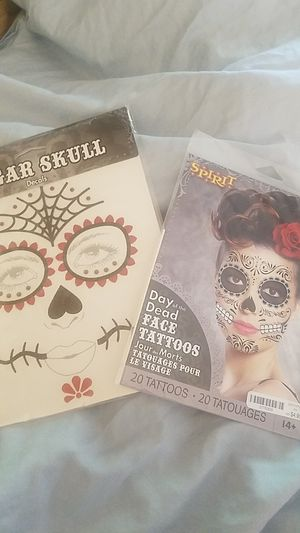 2 packs Sugar Skull Face Tattoos for Sale in Claremont, CA