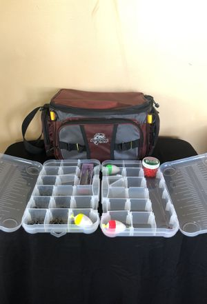 Tackle box with additional gear for Sale in Wildomar, CA