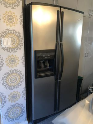 Whirlpool stainless steel refrigerator for Sale in Daly City, CA