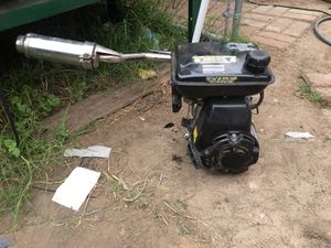 100cc motor with custom exhaust for a mini bike or go kart 80 obo for Sale in Katy, TX