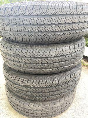 4 good use tires Goodyear wrangler 225/75/16 for Sale in Herndon, VA