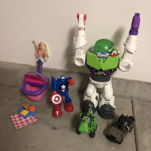 Buzz Light year, Barbie, Captain America And More!! for Sale in San Diego, CA