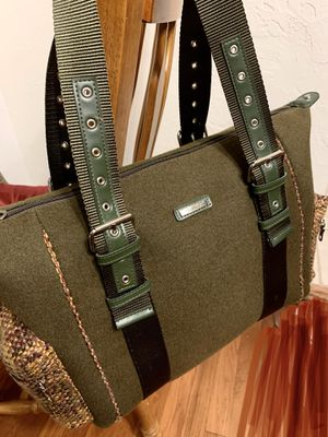 Kenneth Cole Reaction Green Tweed Wool Shoulder Bag Handbag Satchel Purse for Sale in Pittsburgh, PA