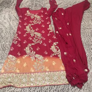 Pakistani Indian shalwar kameez outfit fancy party wedding henna outfit dress for Sale in Silver Spring, MD