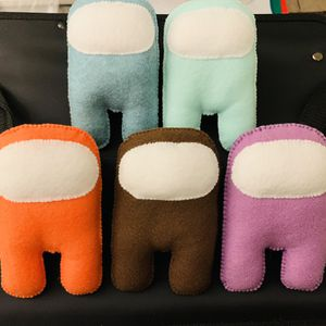 Among us Plushies color baby blue, mint green, brown, orange and purple for Sale in Lemon Grove, CA