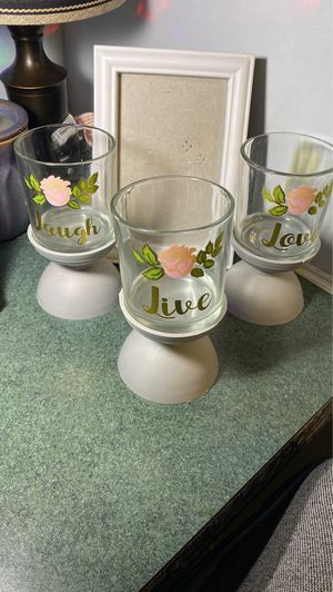 Candle holders with picture frame for Sale in Cuero, TX