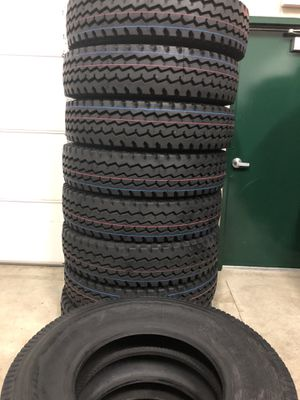 A NEW set of 8 semi Dump Trailer tires (all position tire) for sale for Sale in Naperville, IL