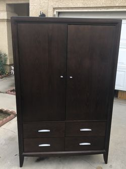 Beautiful Solid Wood Hutch Or Tall Wardrobe Dresser for Sale in Fowler,  CA