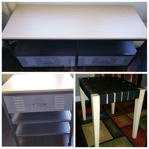 FOR SALE: TV/Entertainment Stand, Side Table & Stool for Sale in Columbus, OH