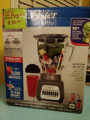 Oster 2in1 plus Blender with blend in go cup for Sale in Hope Mills, NC