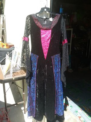 Black blue and pink long-sleeve dress for Sale in Colton, CA