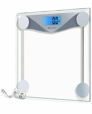 Etekcity Digital Body Weight Bathroom Scale with Body Tape Measure, 8mm Tempered Glass, 400 Pounds for Sale in Fairfax, VA