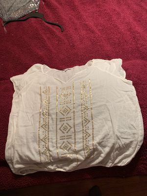 Old Navy White Gold Foil Shirt for Sale in Tampa, FL
