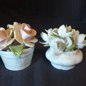 Lot Of 2 Vintage Antique Flowers Bouquet ROYAL ALBERT bone china England ,Radnor bone china england for Sale in Ontario, CA