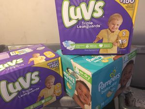 Luvs & pamper diapers for Sale in Columbus, OH
