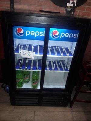 Pepsi side by side soda beverage drink refrigerator cooler for Sale in San Diego, CA