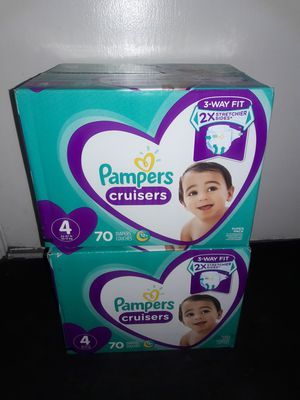 Pampers Cruisers Diapers Size 4 Bundle: 2 boxes (140 diapers) for $44 (Selling both together only) for Sale in Garland, TX