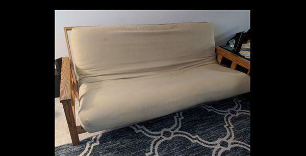 FREE Futon - Nice, Wooden Sleeper Sofa / Couch