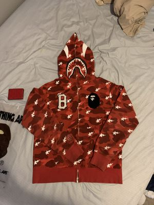 Bape x Black scale shark hoodie supreme palace revenge off white for Sale in Snohomish, WA