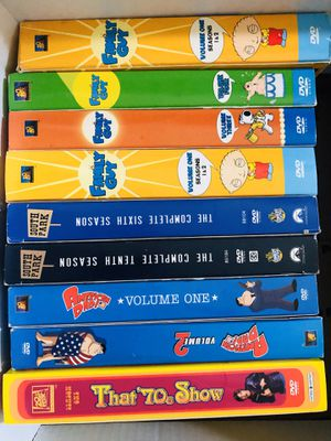 Lot of DVD Box Sets Family Guy American Dad That 70's Show South Park Price is for Each for Sale in Rancho Cucamonga, CA