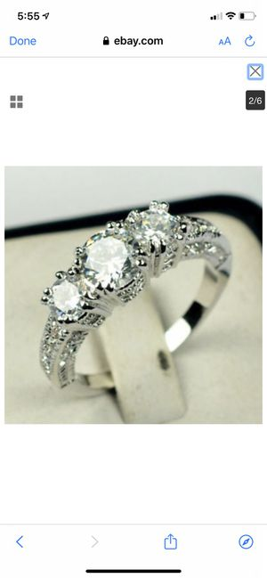 925 sapphire diamond wedding ring for Sale in Downers Grove, IL