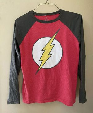 THE FLASH Fastest Man Alive DC Comics Baseball Tee T-Shirt Kid Youth Size XL 16 for Sale in Portland, OR
