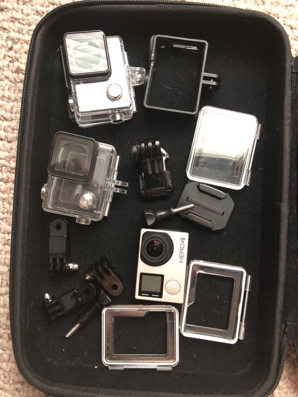 GoPro Hero4 silver with accessories and carrying case