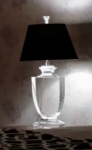 Restoration Hardware Optical Grade Palladian Crystal Urn Lamp for Sale in Dulles, VA