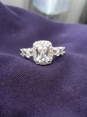 3 carat cz .925 Sterling silver diamond engagement wedding fashion ring, brand new! for Sale in Macomb, MI