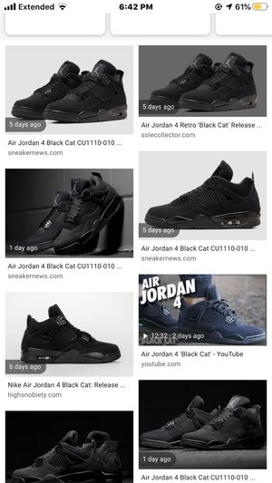 LOOKING FOR DEADSTOCK BLACK CAT 4S SIZE 10 OR 7 175$ or trade for jordan 12 wings for Sale in San Bernardino, CA