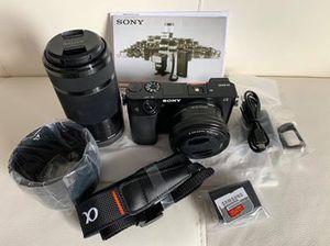 Sony Alpha a6000Y Mirrorless Digital Camera with 16-50mm & 55-210mm Lens Bundle + 64GB Samsung Evo for Sale in Skokie, IL